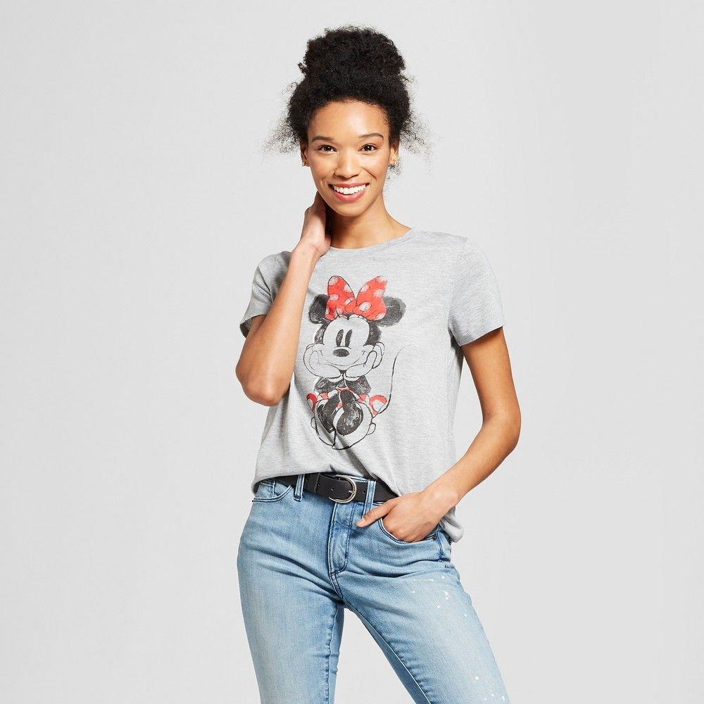 Women S Disney Minnie Mouse Short Sleeve Watercolor Graphic T