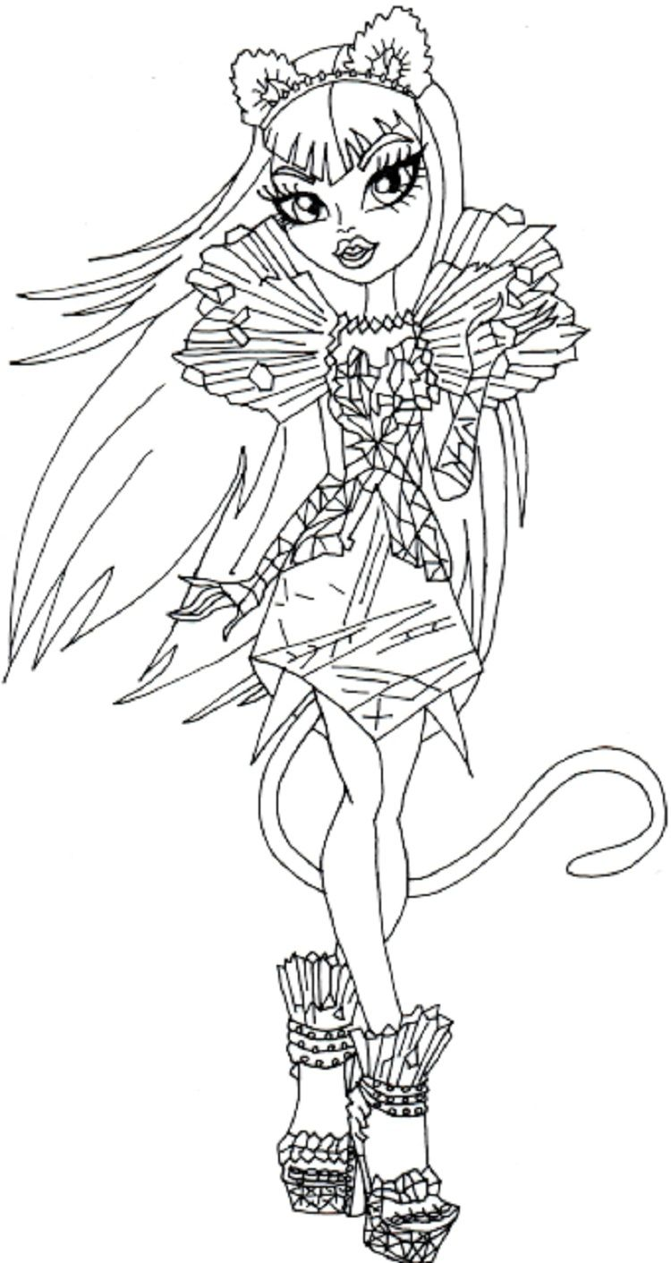 monster high coloring pages elissabat Coloring pages
