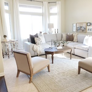 Braylin Tufted Wool Rug 3x5 Neutral Pottery Barn Round Carpet Living Room Home Decor Furniture