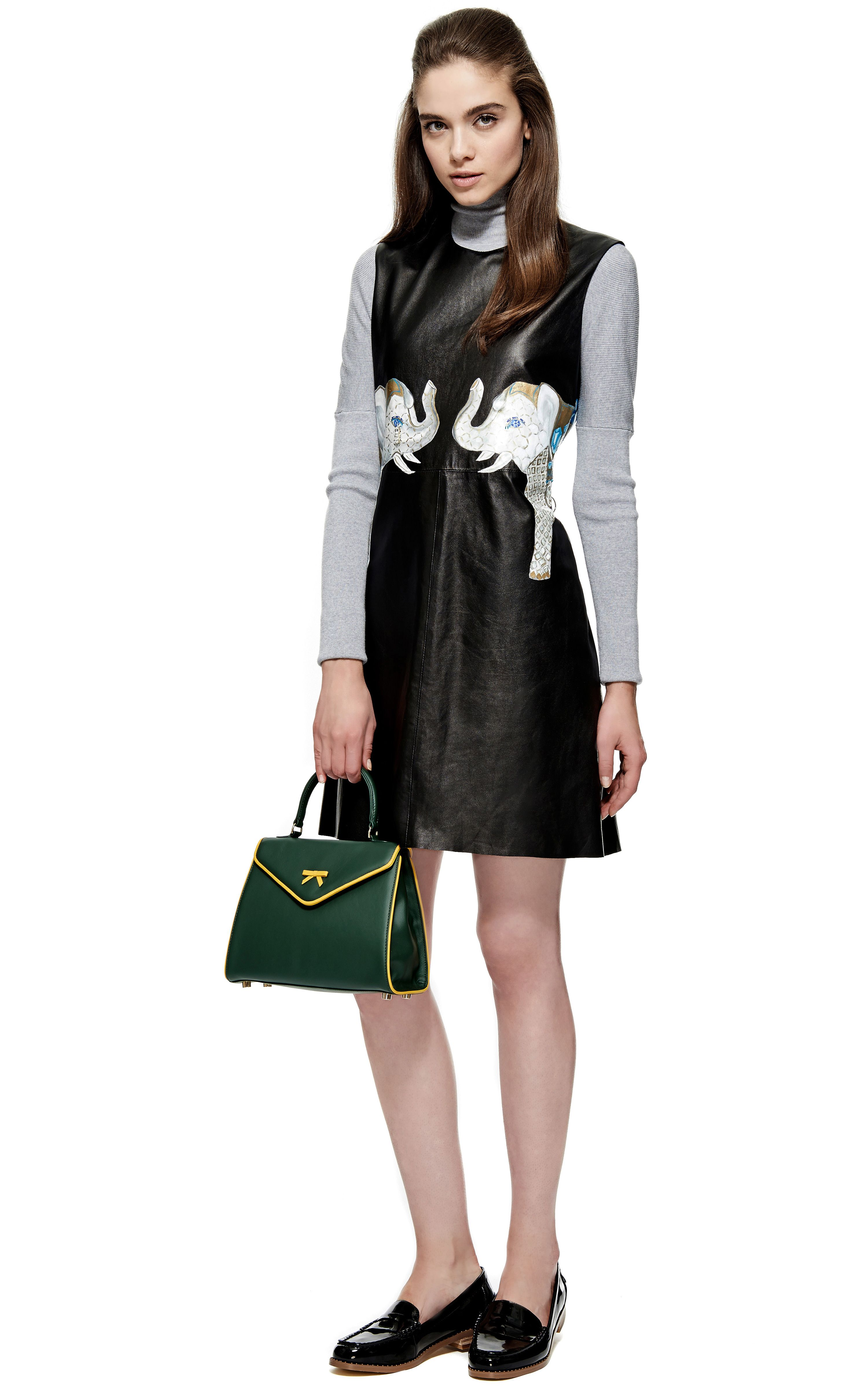 2b503ae6a8d Holly Fowler M'O Exclusive Leather Jewelled Elephants Dress by Holly Fowler  for Preorder on Moda Operandi