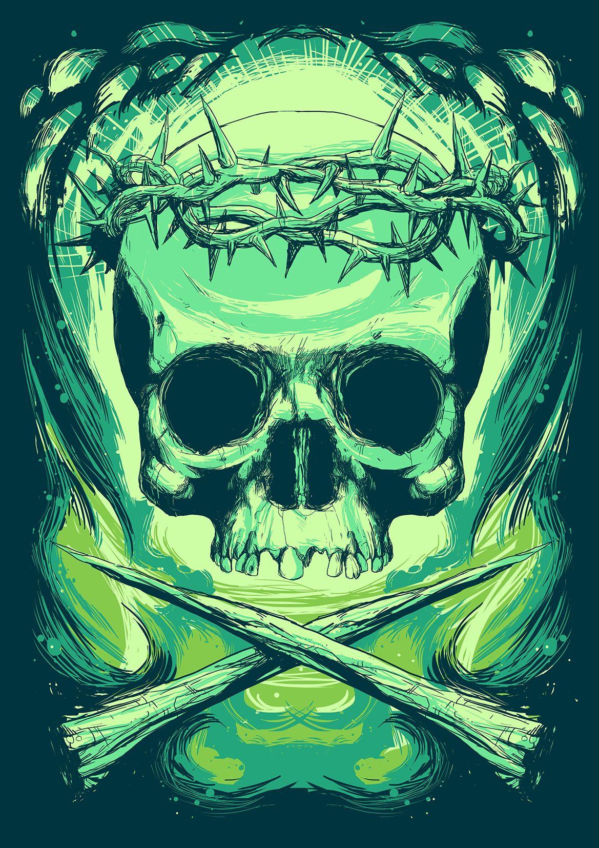 Jesus Skull - The New Custom on Behance | #Skulls | Pinterest ...