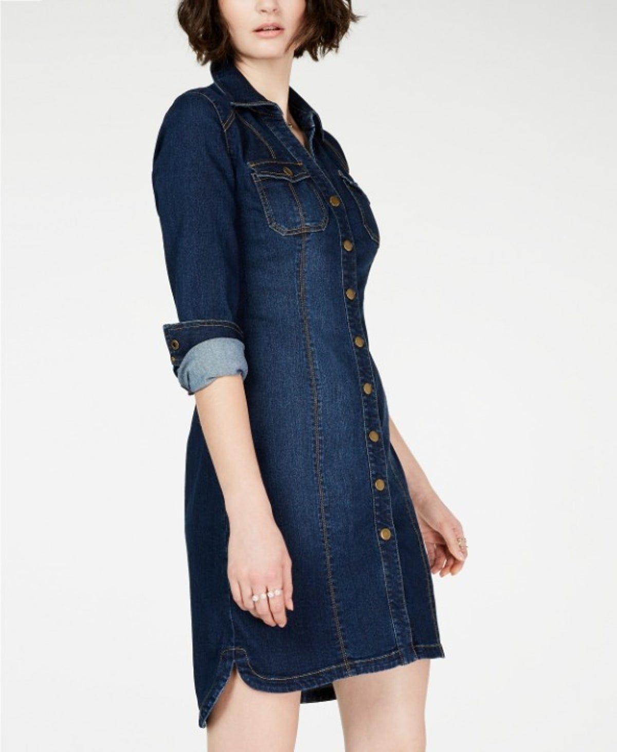 INC Denim Shirtdress 6 on Mercari | Denim shirt dress, Dresses ...