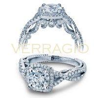 Verragio INS-7070CU-GOLD 0.45ctw Diamond Engagement Ring Setting