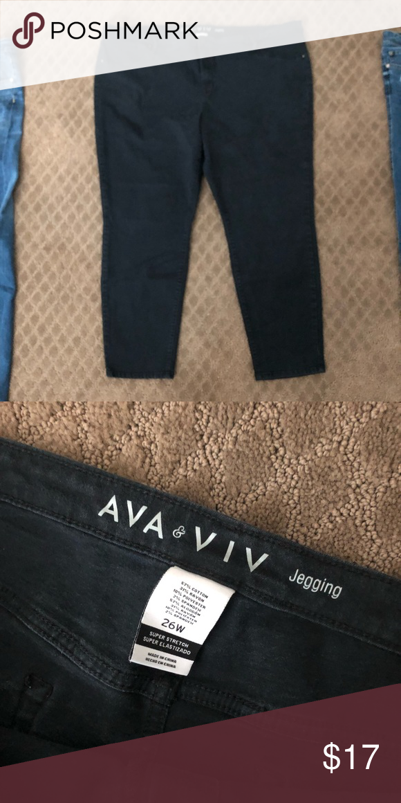 7c49a7e2271fac Ava viv black skinny jeans jegging size 26W 26 Great preowned condition!  Check out the
