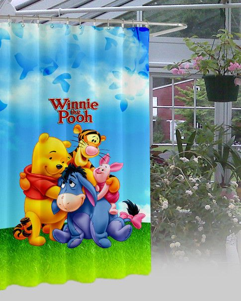 New Winnie The Pooh Waterproof High Quality Shower Curtain 60\