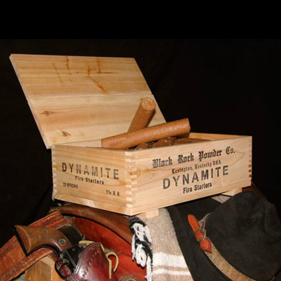 Dynamite Firestarters - Well, this isn't actual dynamite, but it will blast up a blaze every time! It just looks very real to give your guests a thrill.