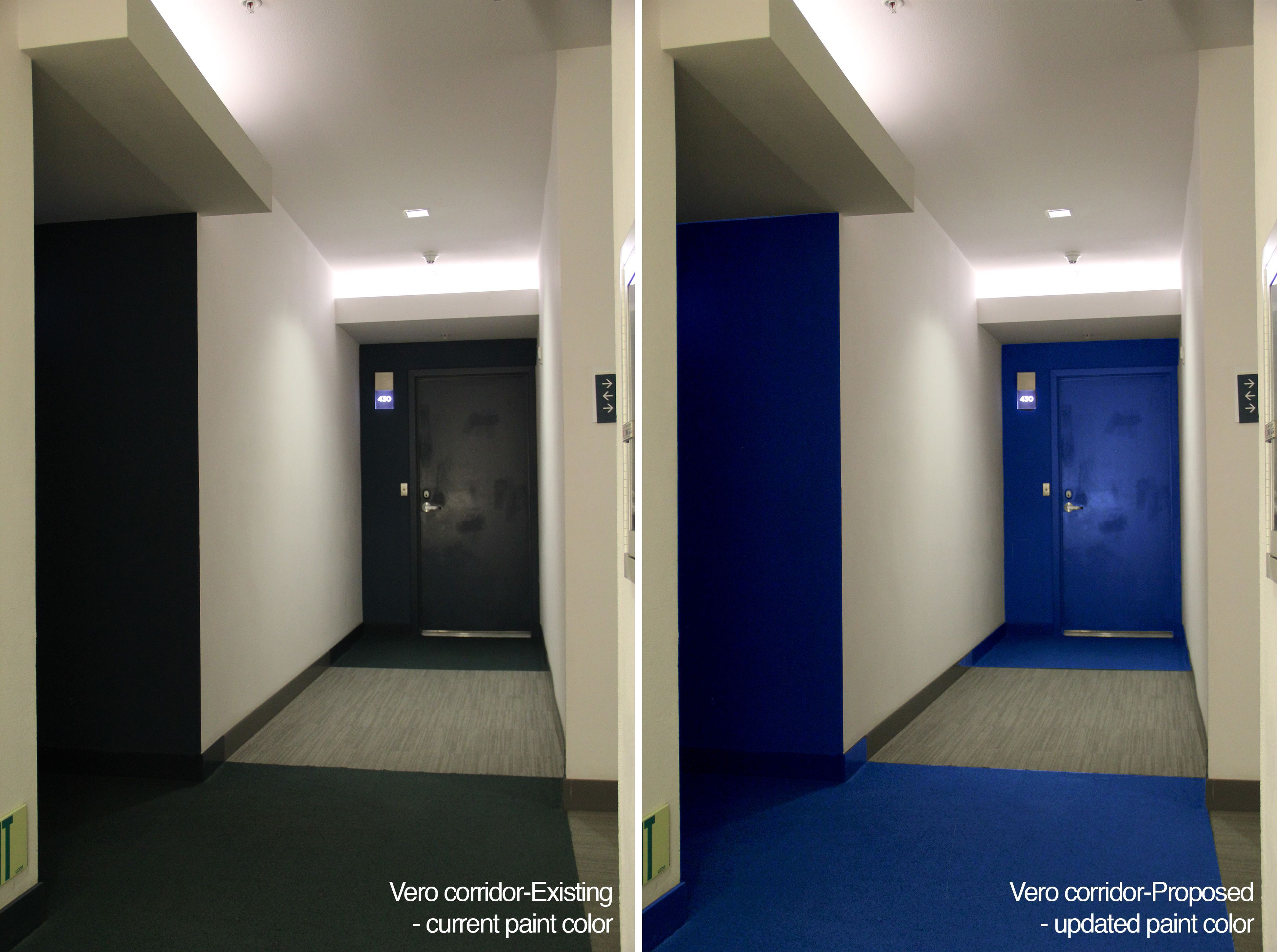 Proposal To Keep Existing Corridor Color Zones Scheme But Update Improve The Proposal To Keep Existing Corridor In 2020 Lighted Bathroom Mirror Design Corridor