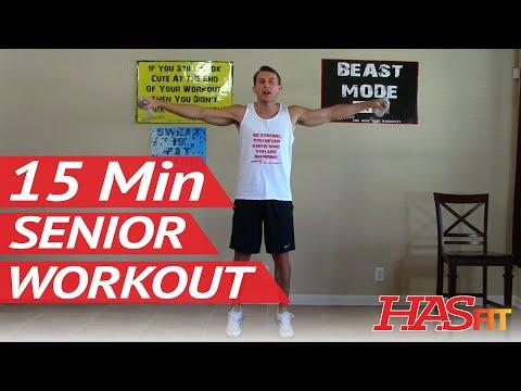 (29) 15 Min Senior Workout HASfit Exercise for Elderly