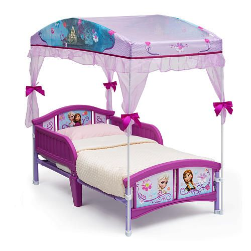 Disney Frozen Canopy Toddler Bed ...   WOULD LOVE THIS WITH MINNIE FOR MY  sc 1 st  Pinterest & Disney Frozen Canopy Toddler Bed ...