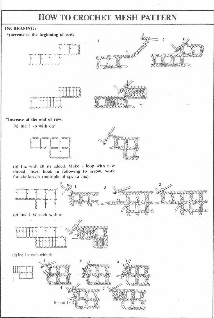 Filet Crochet Increase Decrease Fillet Crochet Patterns Filet Crochet Filet Crochet Charts