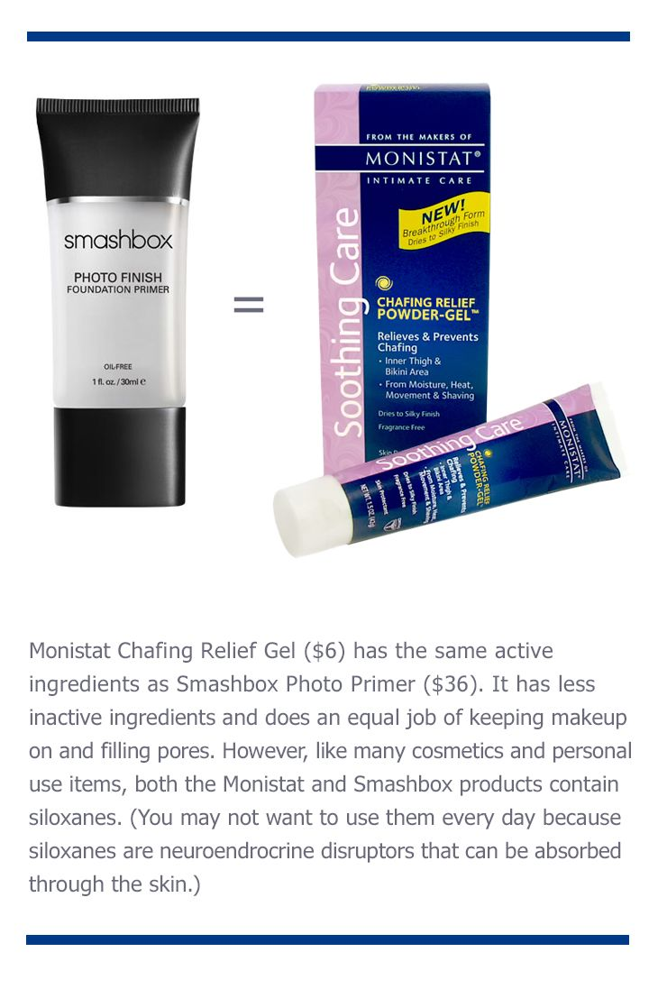 Who Figured This Out As A Makeup Primer Monistat Anti T Chafing Relief Powder Gel Monistats Works Really Well And
