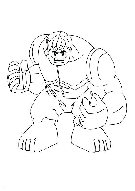 Lego Hulk Coloring Pages For Natalie Who Loves The Hulk Right