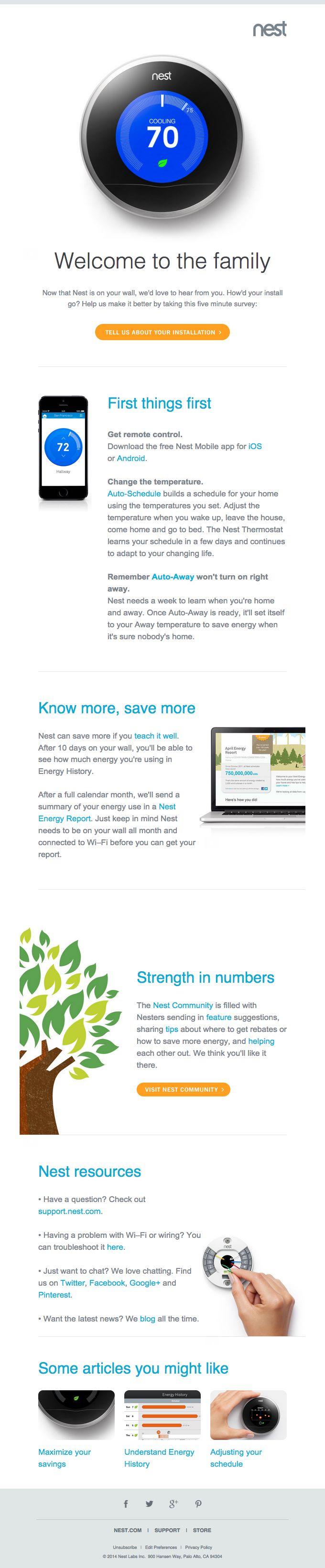 Nest Welcome Email Email Template Design Email Design Inspiration Email Design