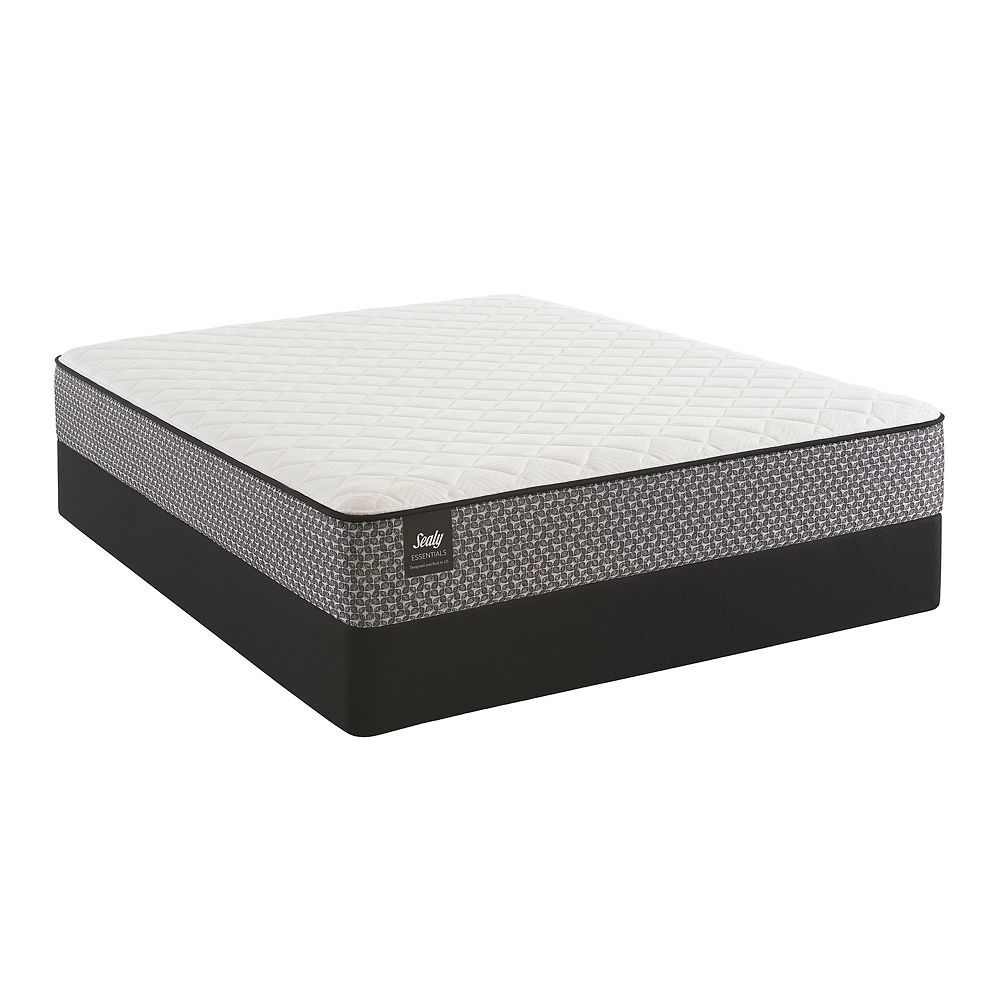 Sealy Essentials Spellman Plush Mattress Box Spring Set