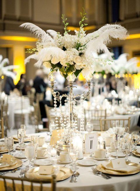 37 Art Deco Wedding Centerpieces That Inspire Art Deco Wedding Centerpieces Art Deco Wedding Decor Art Deco Wedding Theme