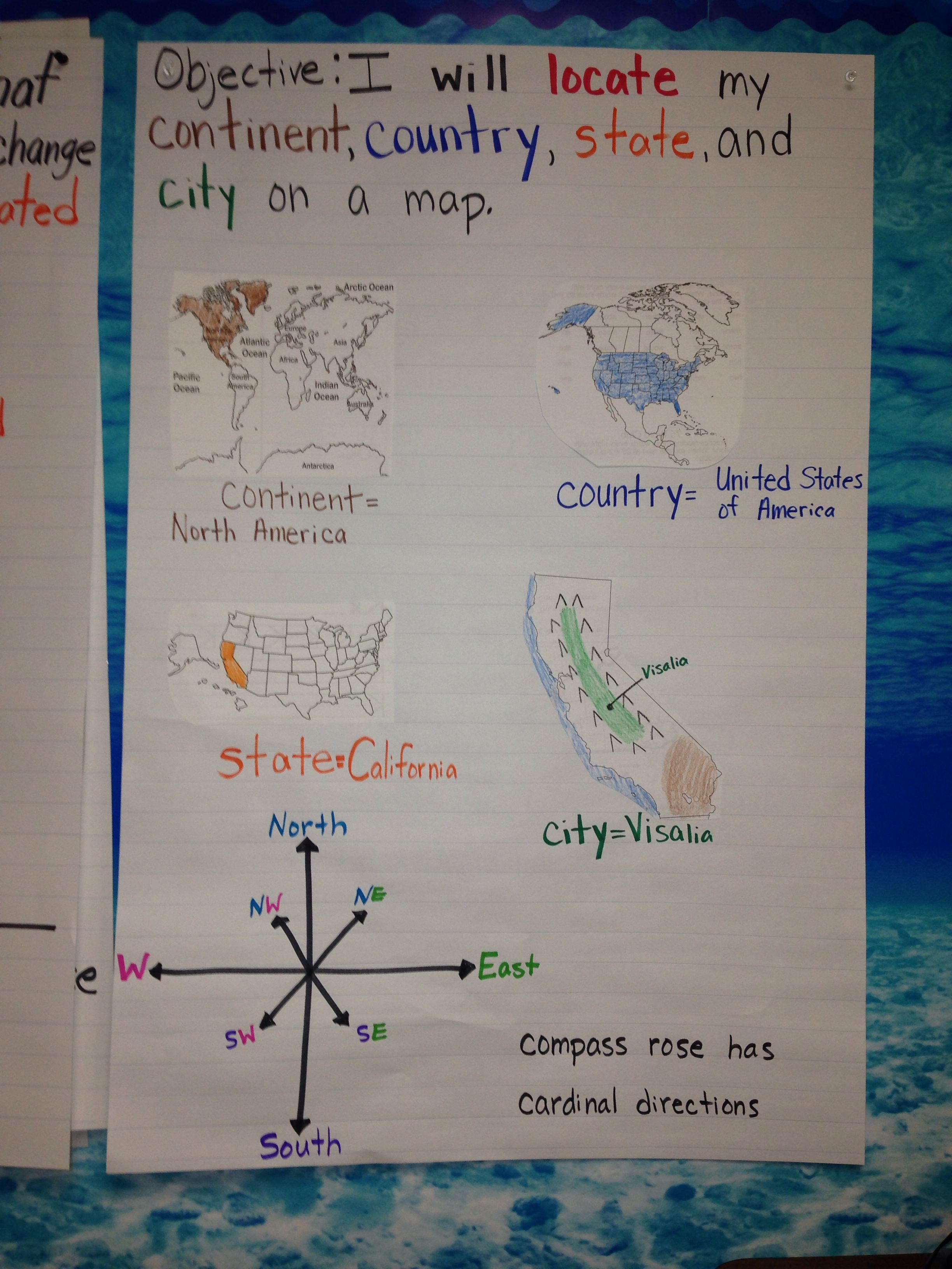 First Grade Social Stu S Maps