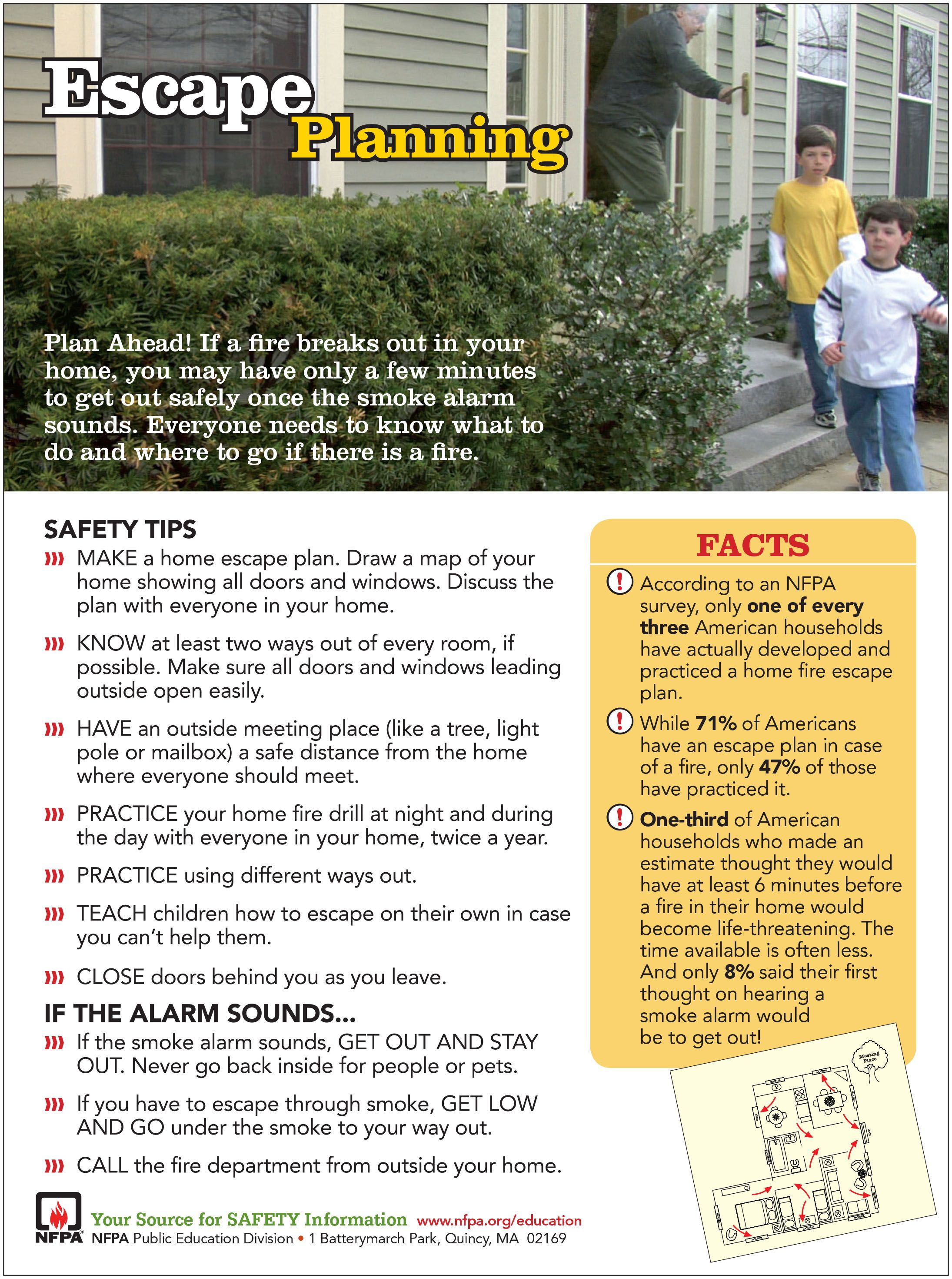 Does Your Household Have A Fire Escape Plan It Is