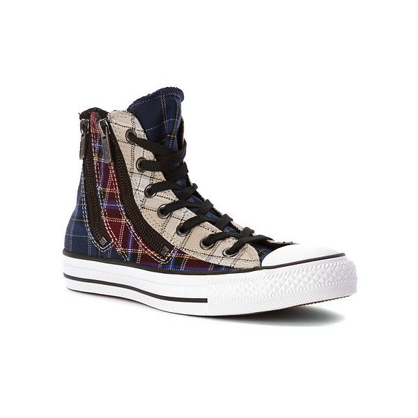 Converse Chuck Taylor Dual Zip High Top Sneaker ($64) ❤ liked on Polyvore  featuring