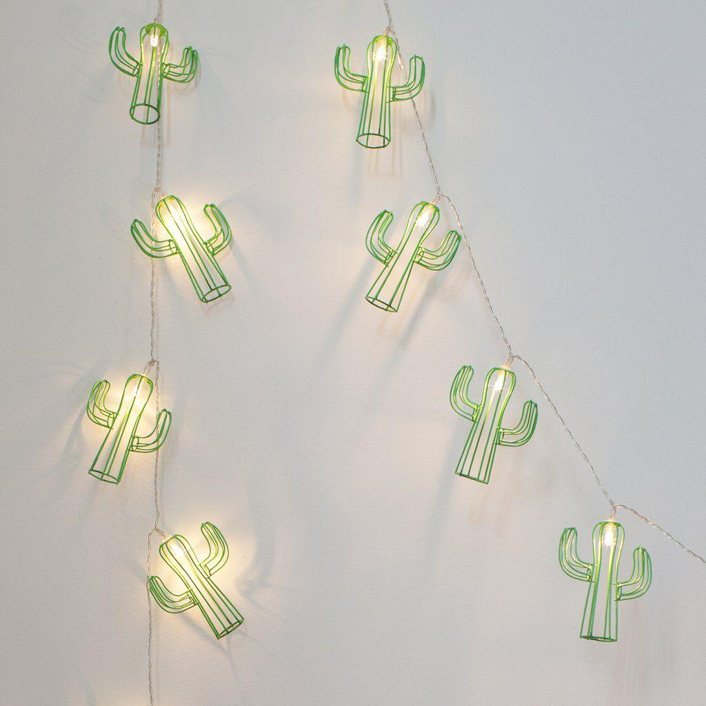 20 Cactus Battery Fairy Lights