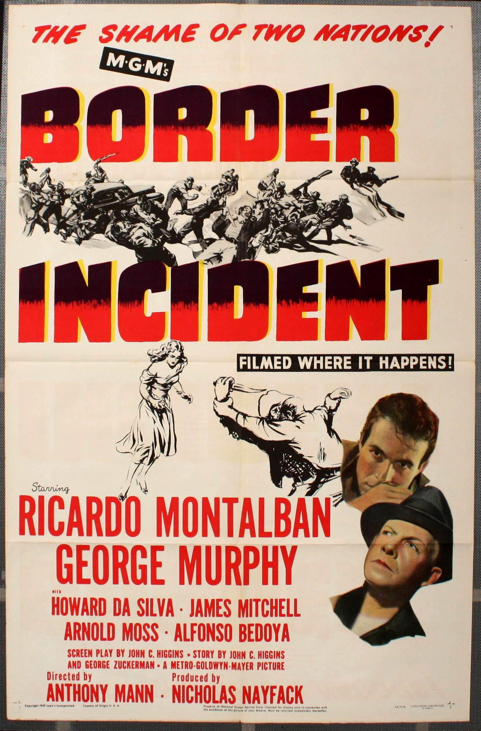"""[1949] Esta película contiene una de las escenas más brutales de la historia del cine noir. El momento en el que un agente federal es asesinado al pasarle una maquina desbrozadora por encima. El problema de la emigración ilegal en los EEUU viene de lejos. """"La vergüenza de dos naciones"""" pone en el cartel de la película. Ricardo Montalbán está convincente en su papel. Un 6,5/10"""