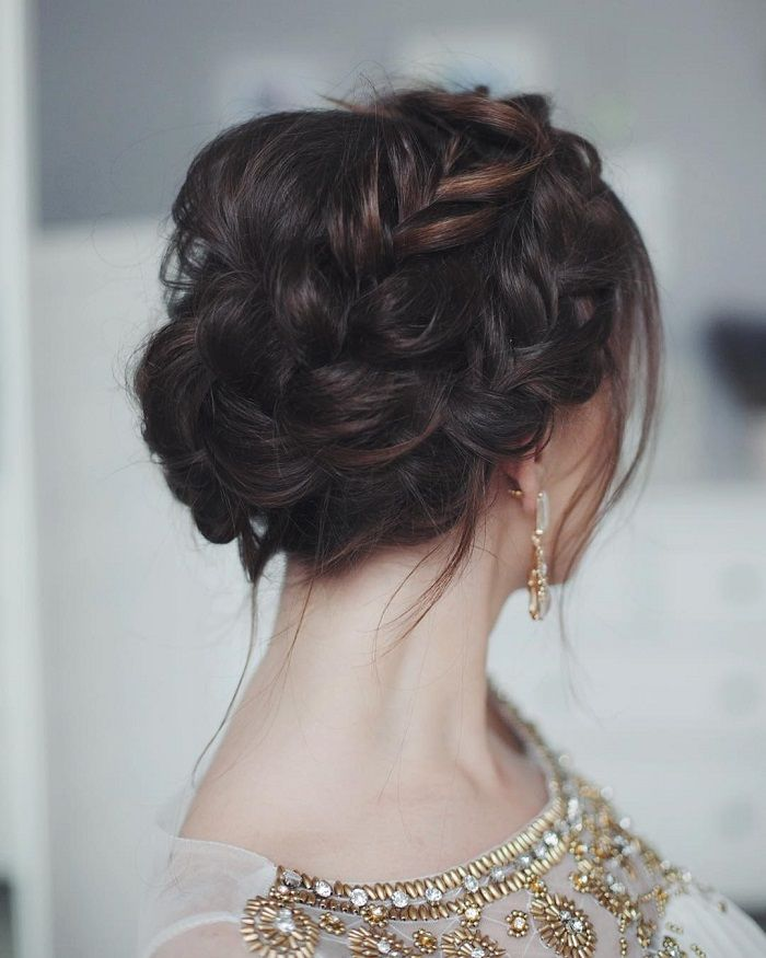21 Wedding updos with braids Modern take on braids