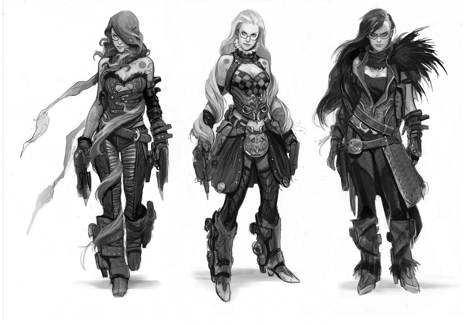 video game character concept art