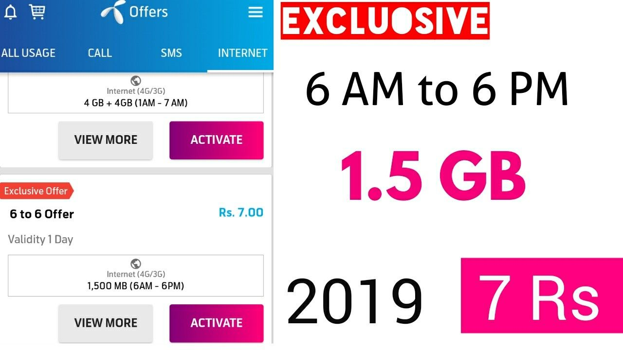 New Telenor Offer 1 5 Gb Internet Internet Sms Offer
