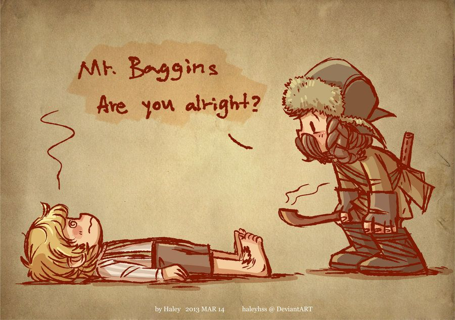 Bofur and Bilbo by haleyhss.deviantart.com on @deviantART