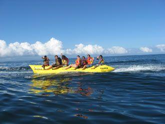 Banana Boat At Guardalavaca Beach Cuba