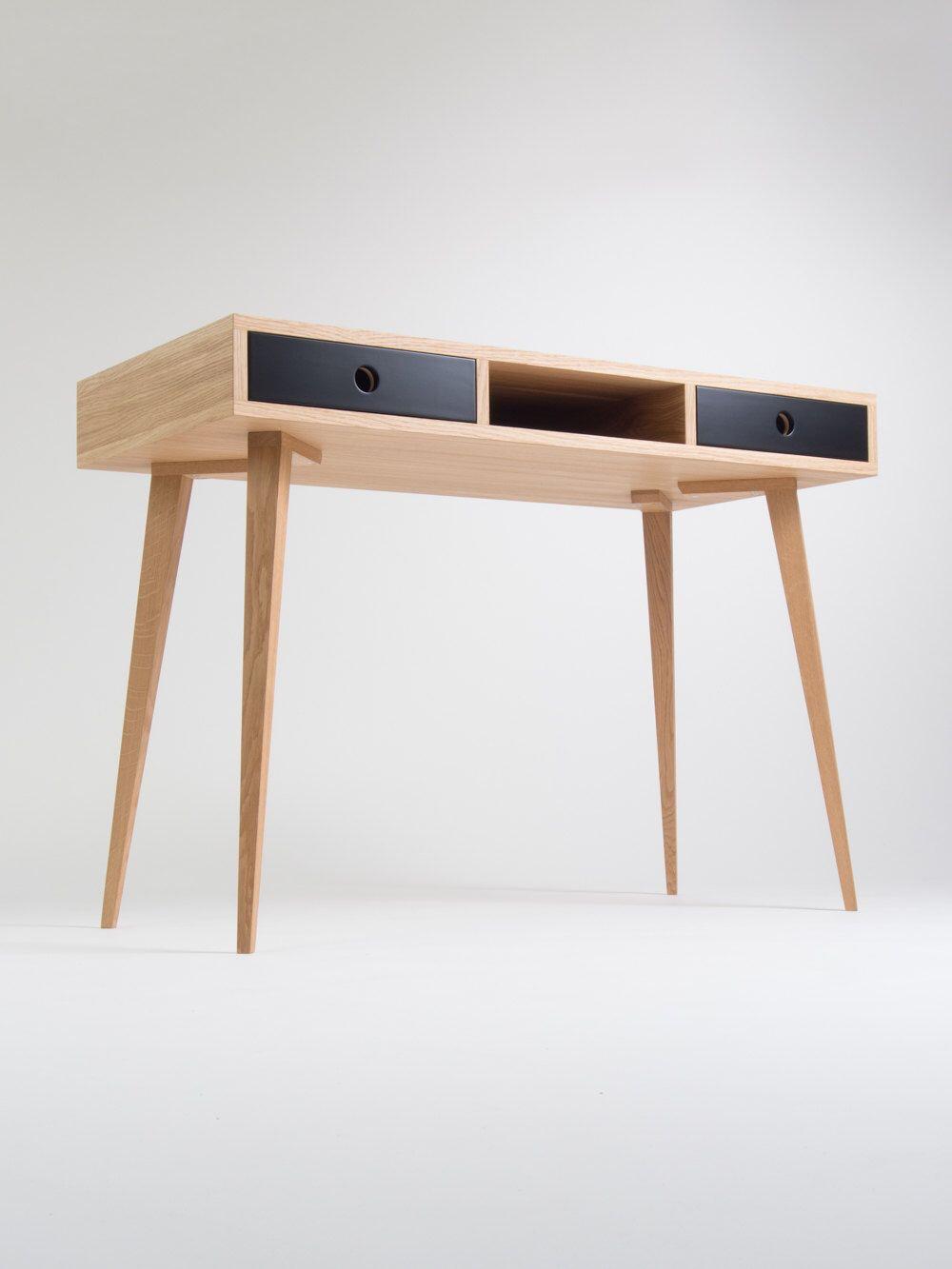 Office Desk Mid Century Modern Bureau Small Computer Table Made