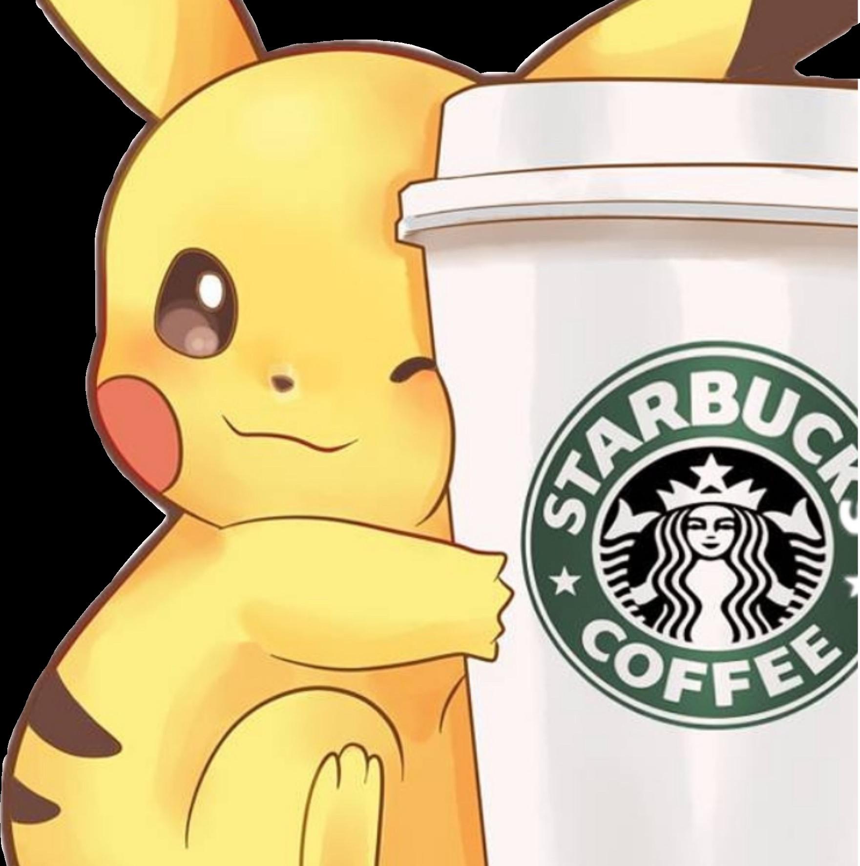 Pickachu Kawaii Starbucks Cute Pokemonsticker Wow Awwwwwww Pikachu Pokemon Stickers Pokemon Pictures
