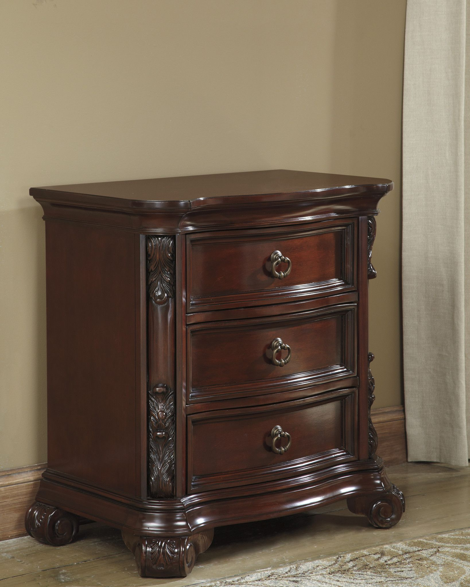 Martanny Three Drawer Night Stand (With images) Three