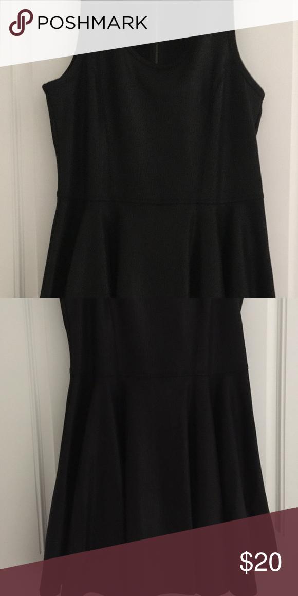 7889baac8f0d Cute sleeveless V-neck black swing dress Any season any reason black  sleeveless dress Express