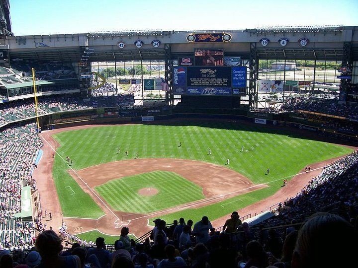 Miller Park Home Of Milwaukee Brewers Seating Capacity 41900 Opened 2001 Daily MLB