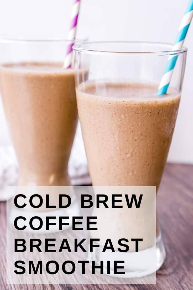 Photo of Cold Brew Coffee Banana Smoothie
