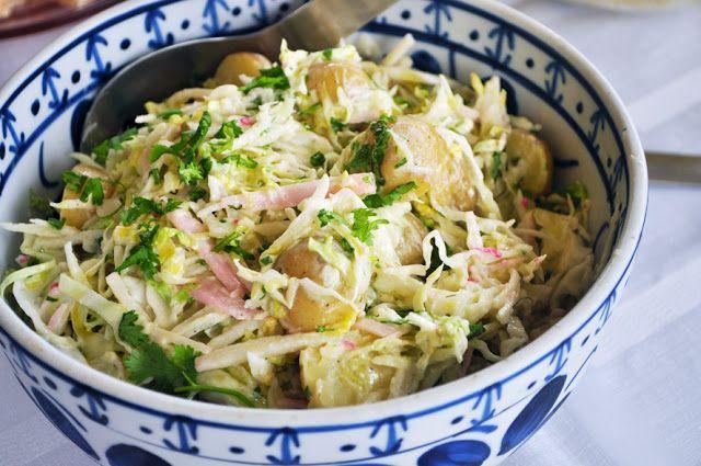 Salada de repolho com Kani