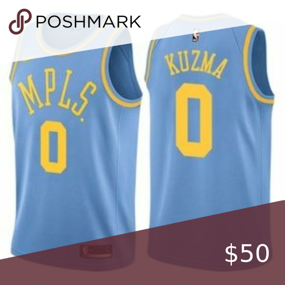 Los Angeles Lakers Kyle Kuzma Blue 0 Jersey 1 Brand New With Tags 2 All Items Size Available In Stock 3 All Items In 2020 Los Angeles Lakers Kobe Bryant Kyle Kuzma