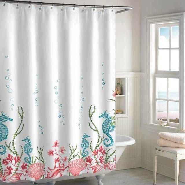 Product Image For Destinations Seahorse Panel Shower Curtain With