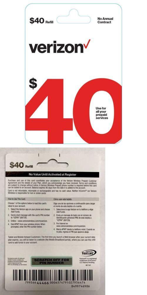 $45 Verizon Wireless Prepaid Top-Up Card | giftcardshunters
