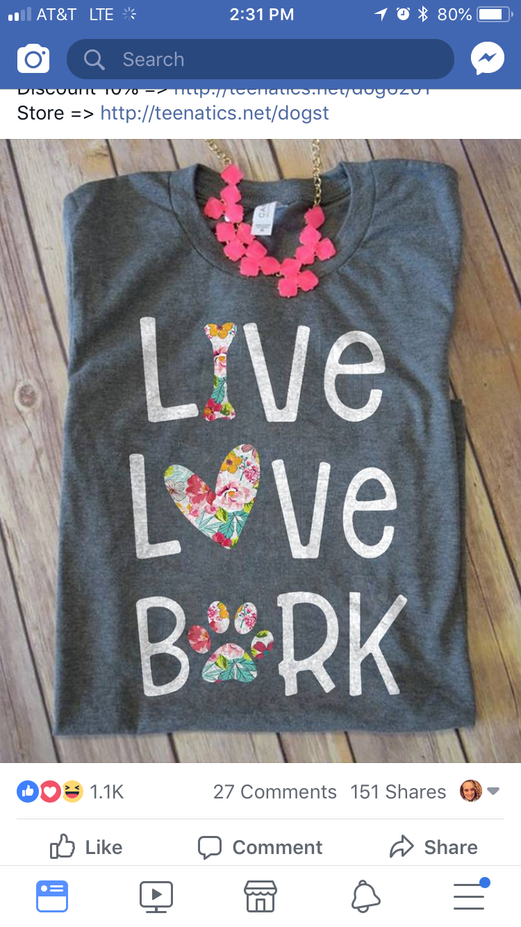 Live Love Bark Vinyl Tshirts Dog Mom Shirt Vinyl Shirts