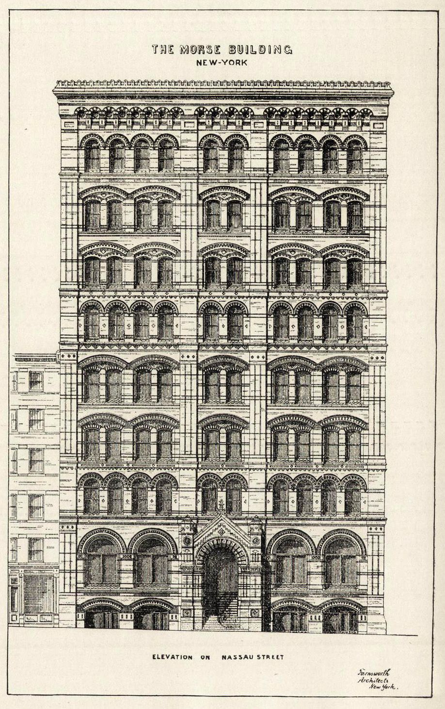 Architectural Drawings Of Buildings elevation of the morse building, new york city | desenhos