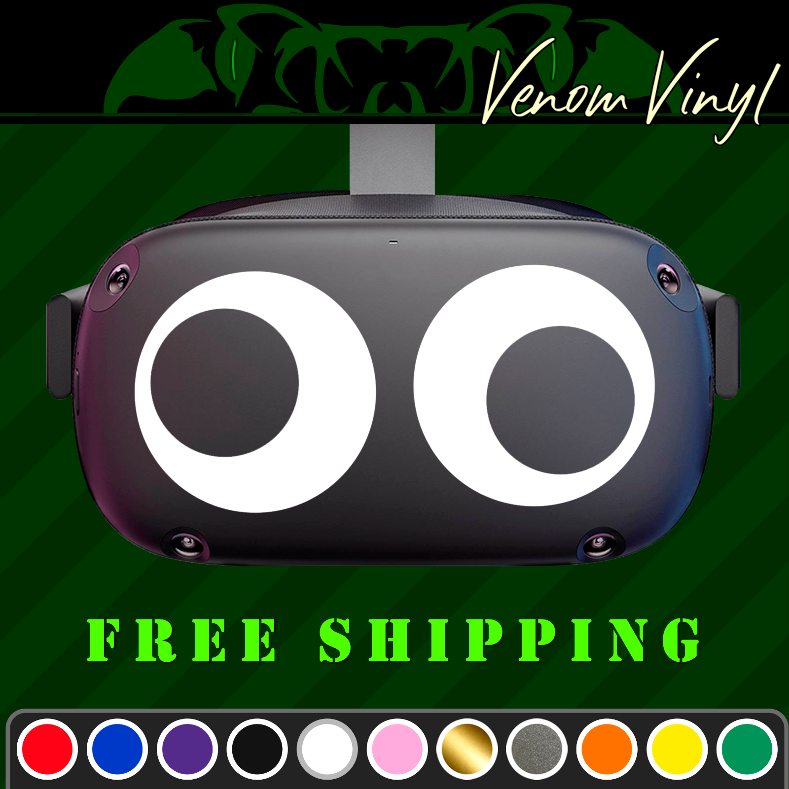 Googly Crazy Eyes Funny Vinyl Decal Fits Oculus Quest Rift Psvr Vr Headsets Ebay In 2020 Funny Vinyl Decals Vinyl Decals Vinyl
