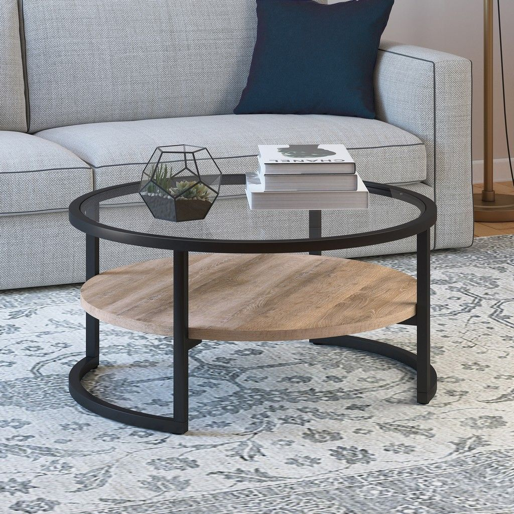 Winston Blackened Bronze And Limed Oak Round Coffee Table Hudson Canal Ct0224 In 2021 Coffee Table Coffee Table With Storage Round Glass Coffee Table [ 1024 x 1024 Pixel ]