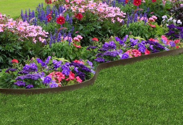 Ez Border Thinline Garden Edging In Earth L20 X5 400 x 300