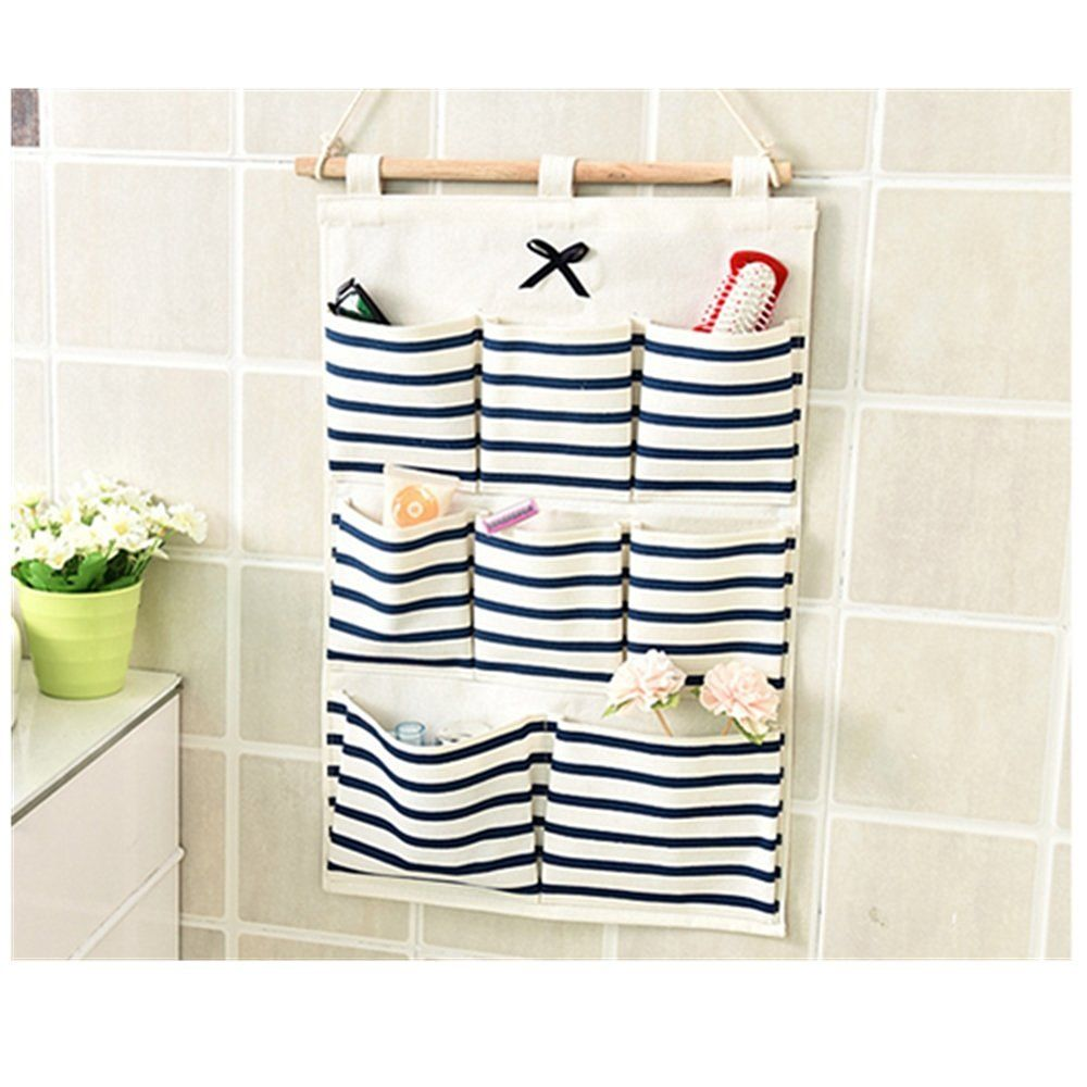 Cotton Fabric 8 Pockets Wall Door Hanging Organizer Storage Bags Saint  Kaikou2026