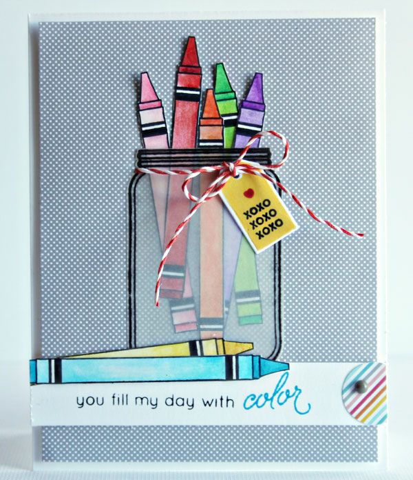 Created by Nichol Magouirk using the March 2014 card kit by Simon Says Stamp.