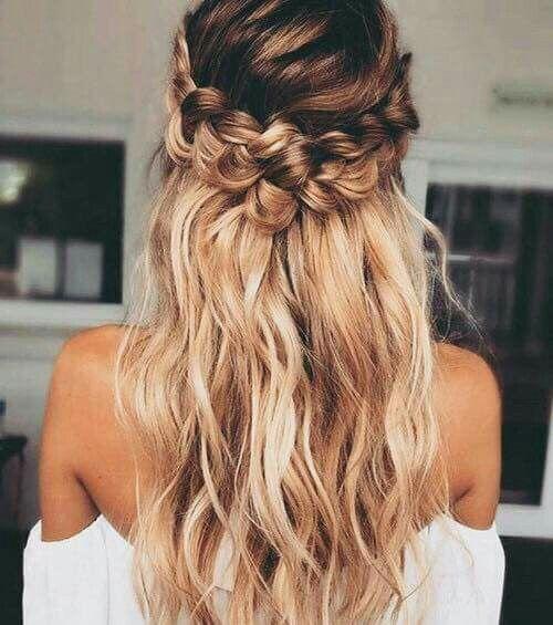 Beutiful Hair Braided Hairstyles For Wedding Loose Curls Hairstyles Hair Styles