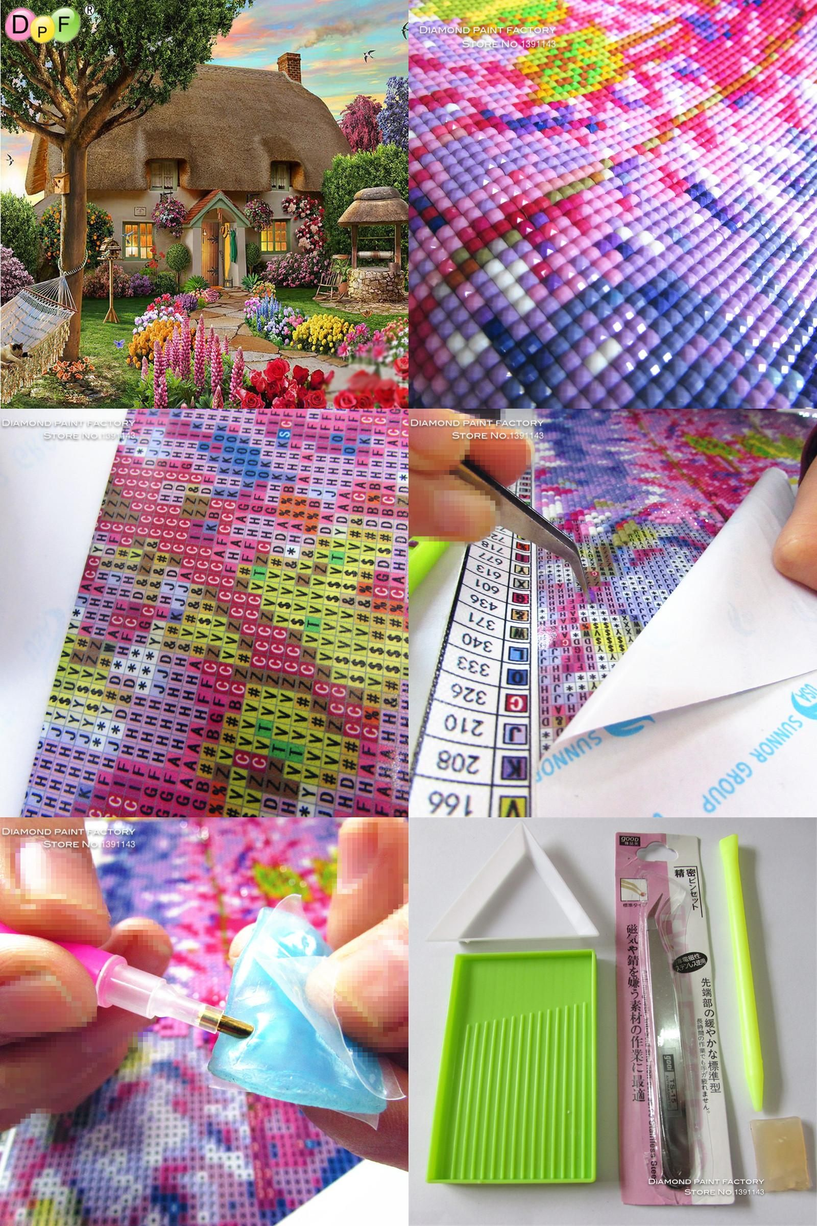 c9c70915b9 [Visit to Buy] Diamond painting cross stitch chimney house 3d Diy Diamond  Embroidery Gift Pasted kits Square mosaic Drill home decor crafts  #Advertisement