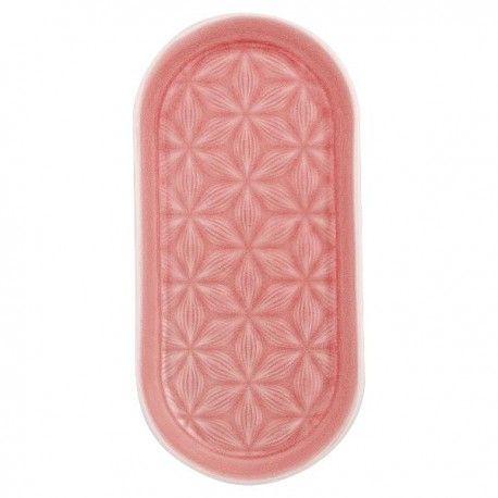 Vassoio Kallia by Greengate realizzato in porcellana a tinta unica rosa. Ideale in abbinamento con altri prodotti Greengate