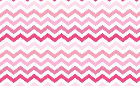 Ombre Pink Chevron Wallpaper